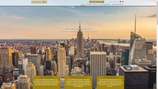 Referenz Website von FabianAIR