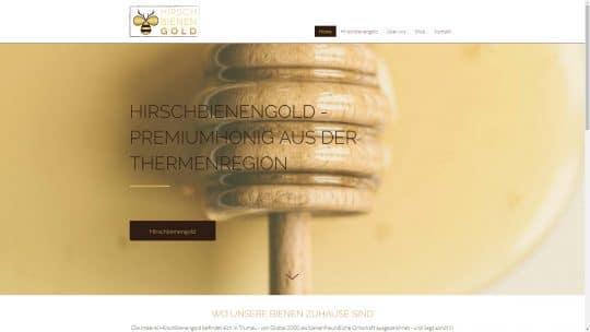 Referenz Website von Hirschbienengold