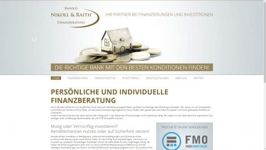 Referenz Website von Kanzlei Nikoll & Raith