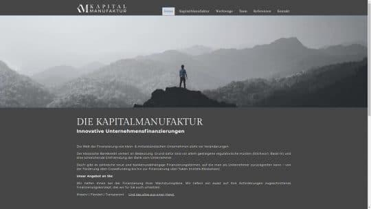 Referenz Website von Kapitalmanufaktur