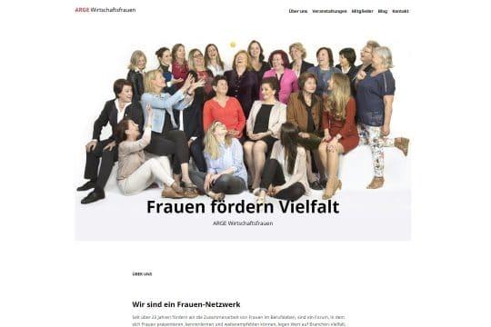 Referenz Website von ARGE Wirtschaftsfrauen