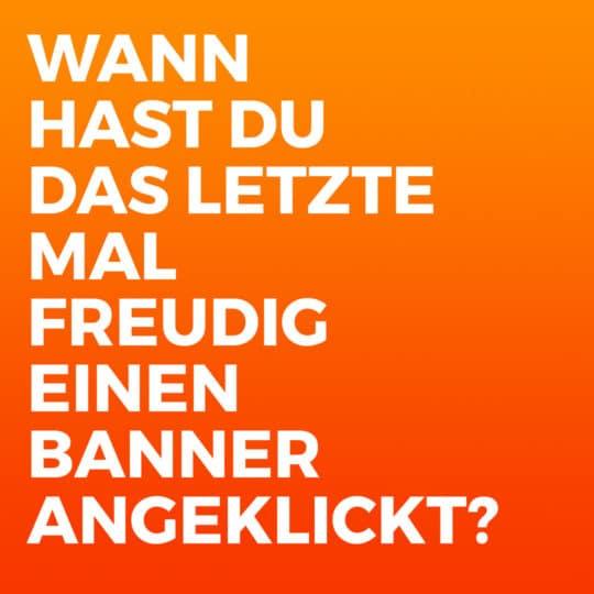 Leads generieren content marketing post banner