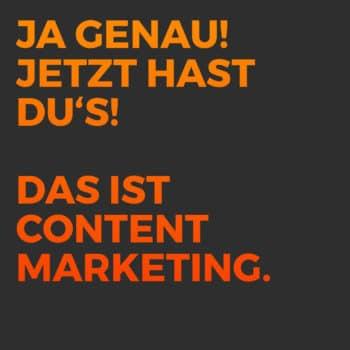 Leads generieren content marketing post ja