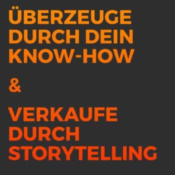Leads generieren content marketing post storytelling